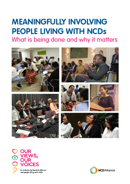 Meaningfully Involving People Living with NCDs